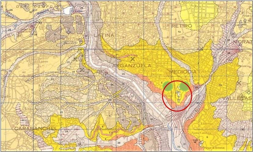Imagen de plano geológico de la zona de actuación