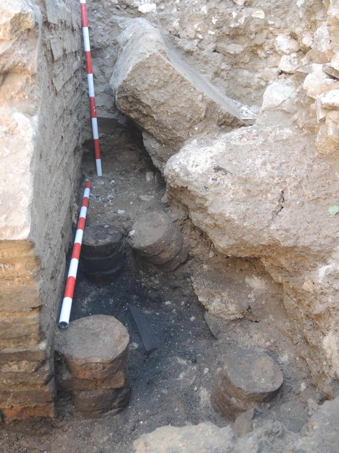 Imagen de restos constructivos de las termas descubiertas