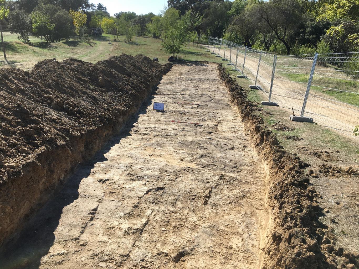 Imagen de una vista de la intervención arqueológica
