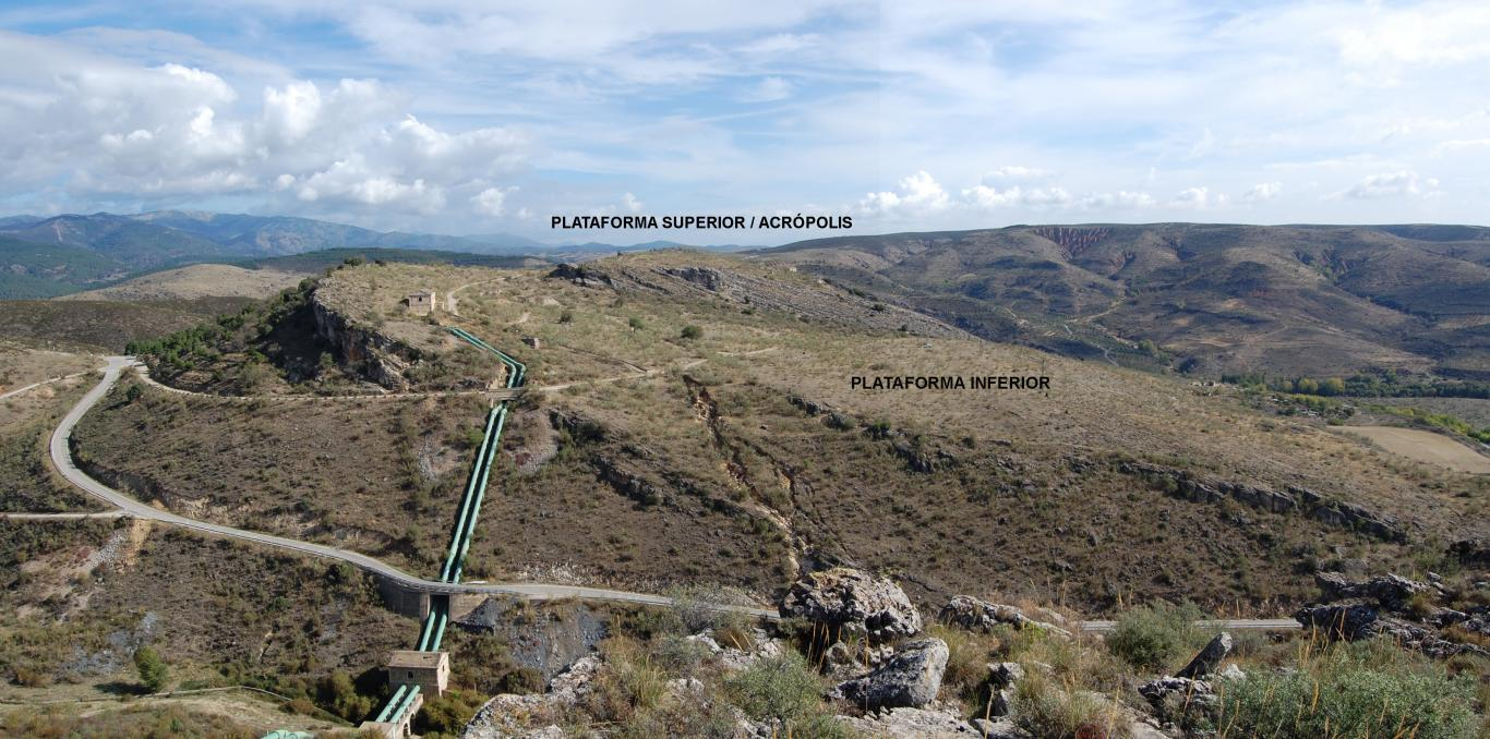 Imagen de vista del yacimiento de la Dehesa de la Oliva desde el oeste