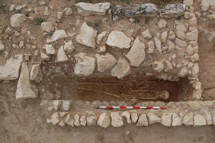 Imagen de la Tumba altomedieval del yacimiento de la Dehesa de la Oliva