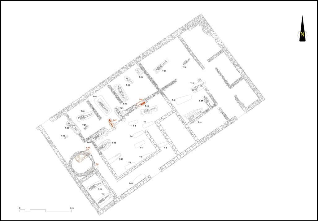 Imagen Planta de casa romana con enterramientos altomedievales