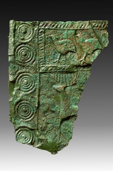 Imagen de la Placa de bronce con decoración zoomorfa en El Llano de la Horca Santorcaz