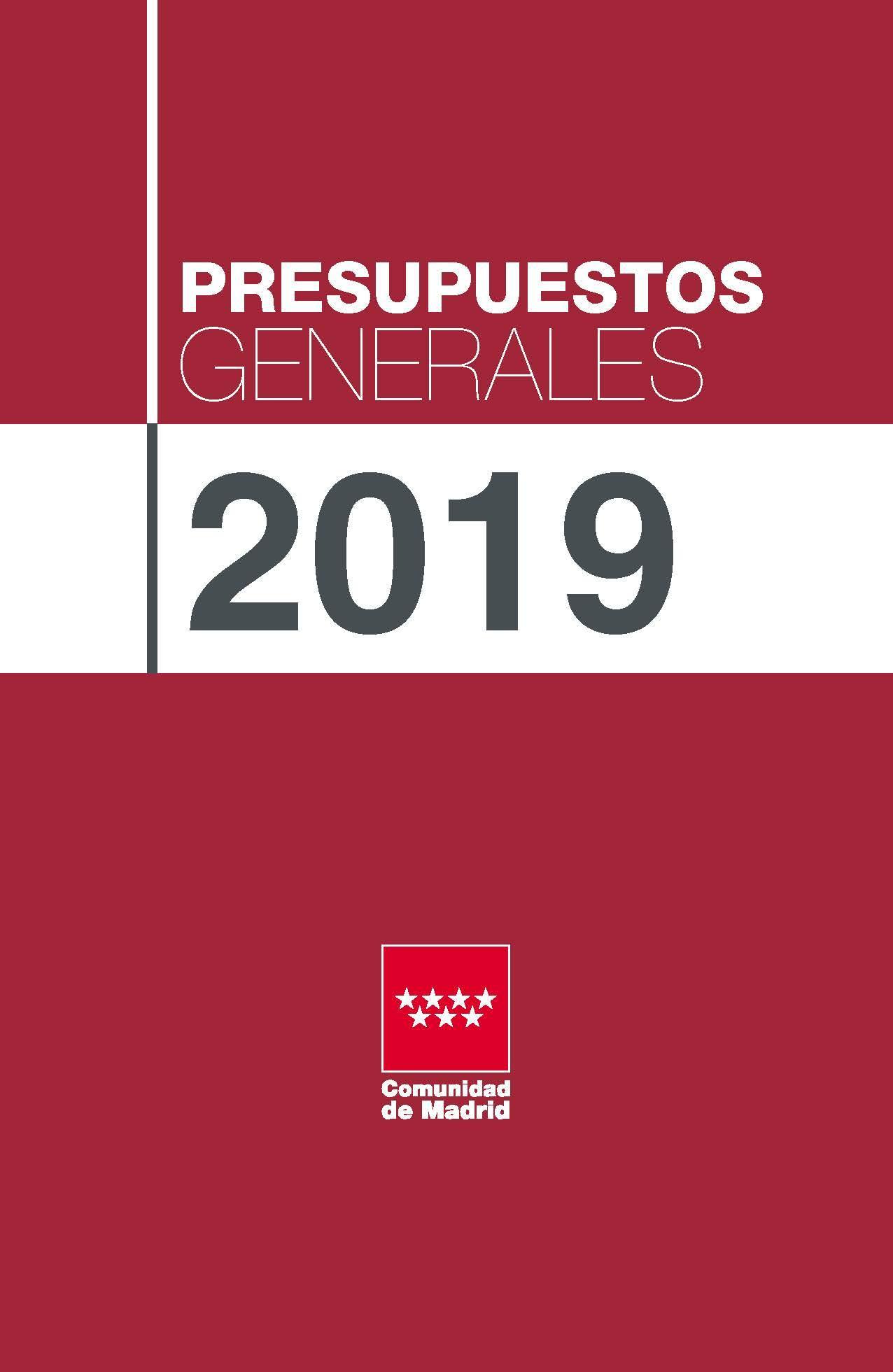Portada folleto de presentación de los Presupuestos para 2019.