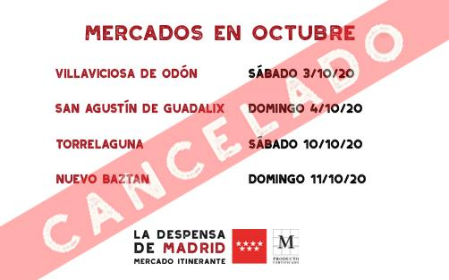 CANCELADO CALENDARIO OCTUBRE 1/2 2020