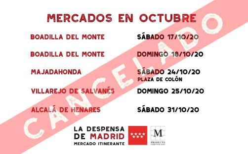 CANCELADO CALENDARIO OCTUBRE 2/2 2020