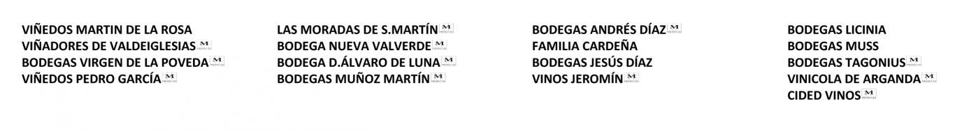Bodegas participantes en la 1ª Feria D.O. Vinos de Madrid de Boadilla del Monte