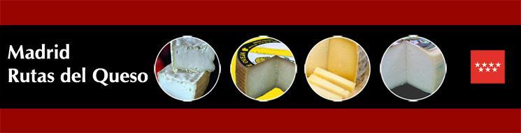 Imágenes circulares de varios quesos sobre fondo granate