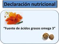 Declaración nutricional: fuente de ácidos grasos omega 3