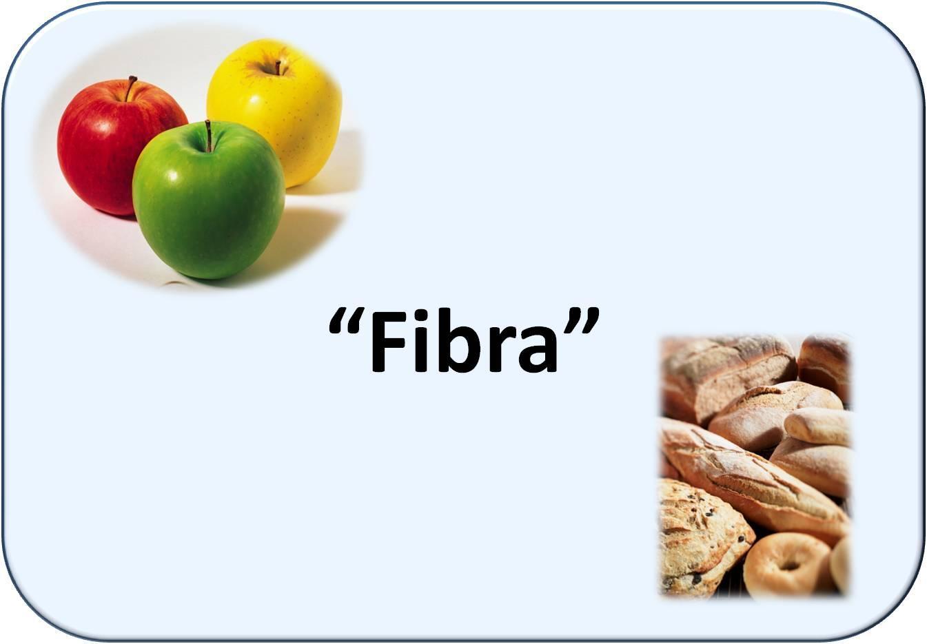 Simbología de fibra alimentaria: frutas y panes