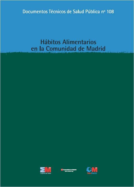 Imagen de la portada del estudio Hábitos alimentarios en la Comunidad de Madrid