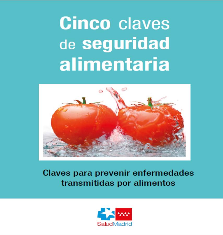 Portada del folleto sobre cinco claves de seguridad alimentaria