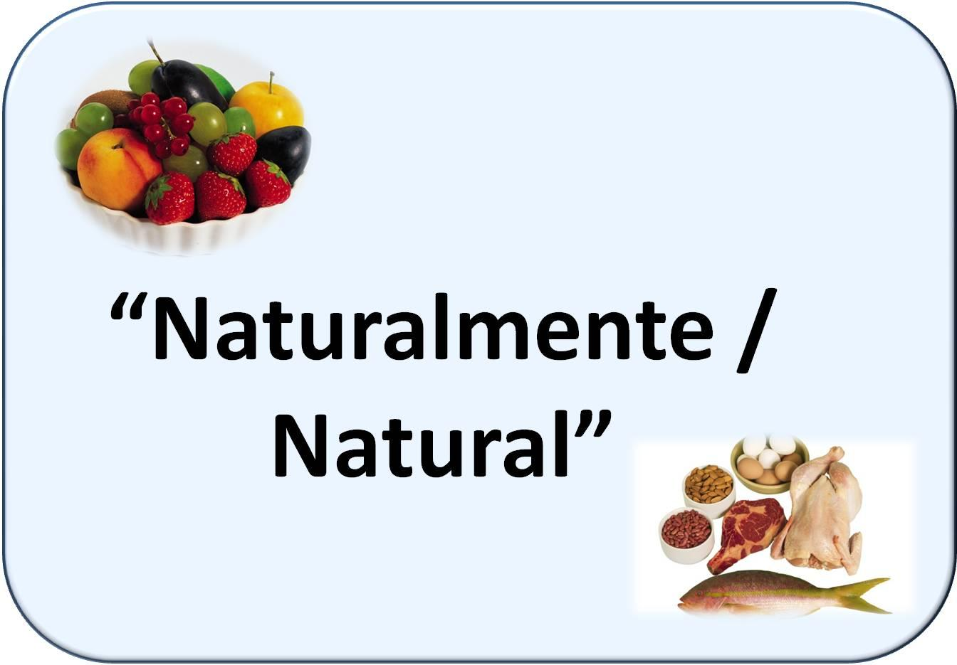 Simbología de natural: frutas y diversos alimentos