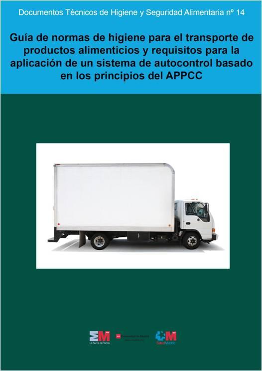 Portada de la publicación sobre APPCC en transporte de alimentos
