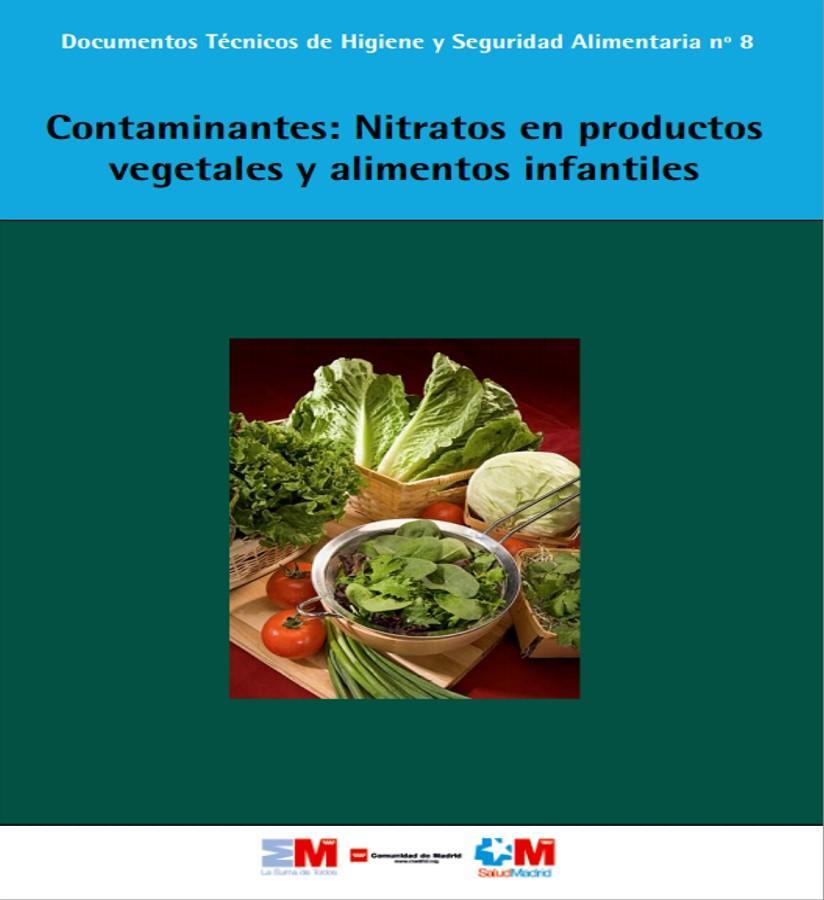 Portada del folleto sobre Contaminantes Nitratos en vegetales y alimentos infantiles