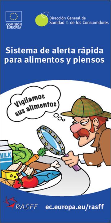 Portada del folleto de la Comisión Europea sobre el sistema de alerta alimentaria