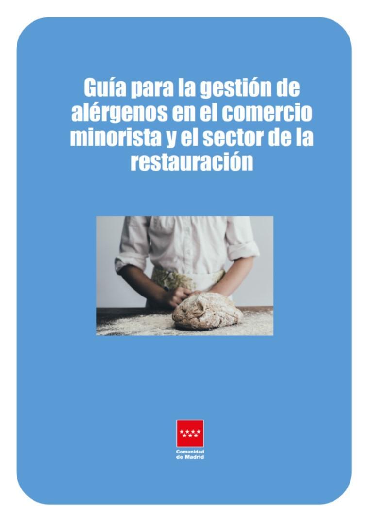 Portada de la guía de gestión de alérgenos en el comercio minorista y la restauración