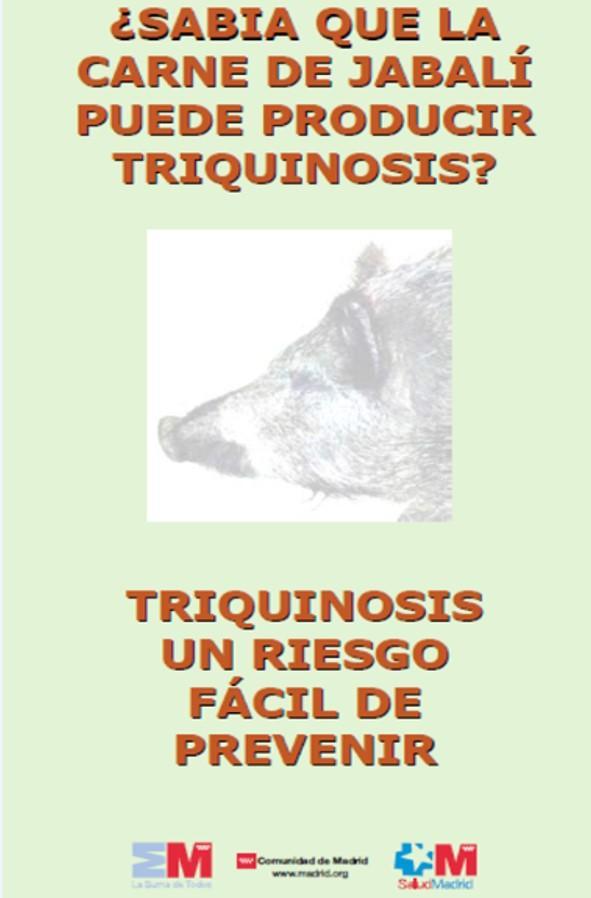 Portada del tríptico sobre triquinosis