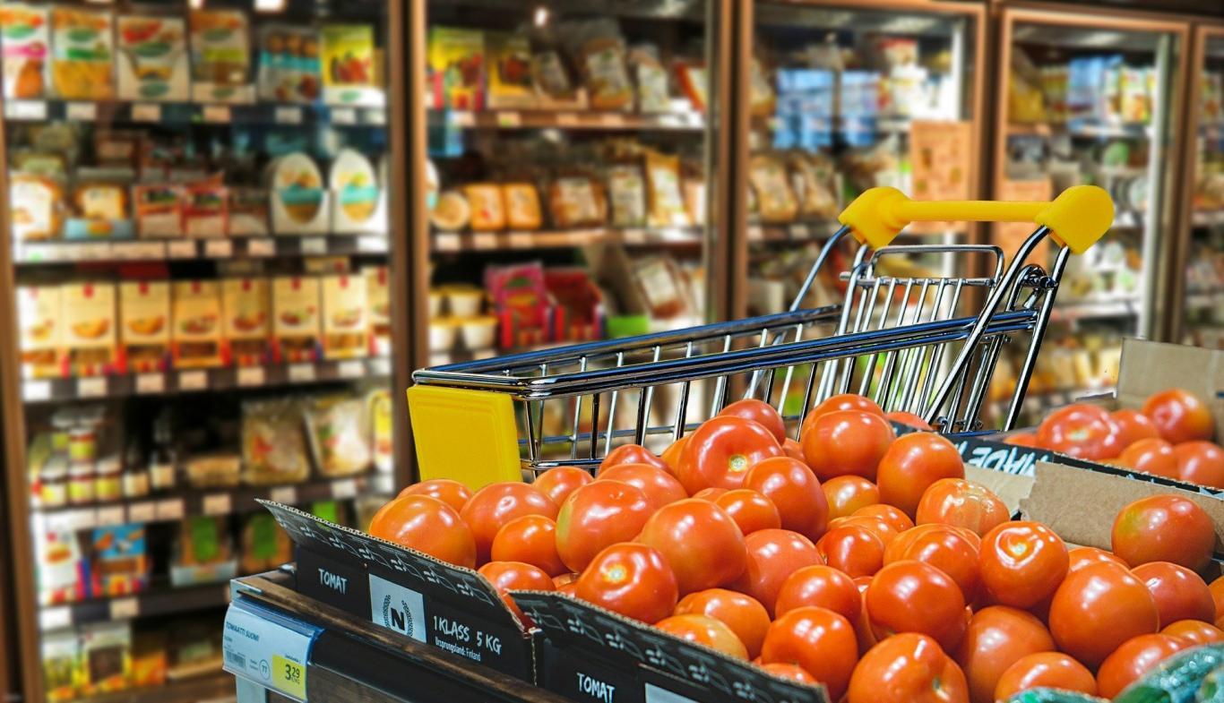 carro de compra en supermercado
