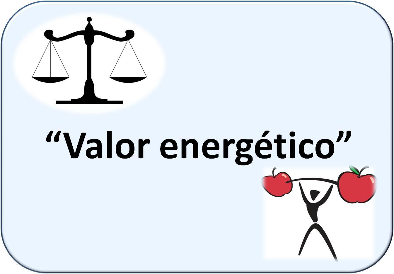 Símbología de Valor energético: una balanza y una persona levantando pesas