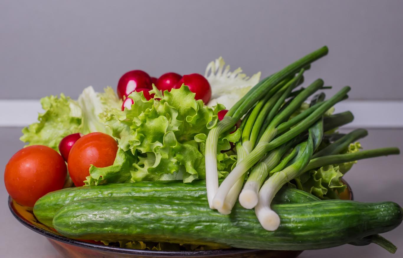 Vegetales varios: puerro, tomates, lechuga...
