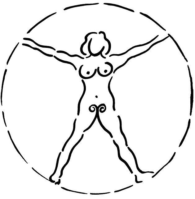 Mujer dibujo