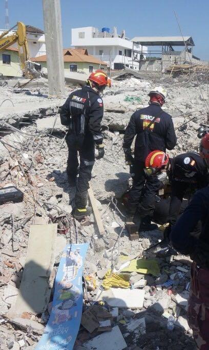 Bomberos en Ecuador