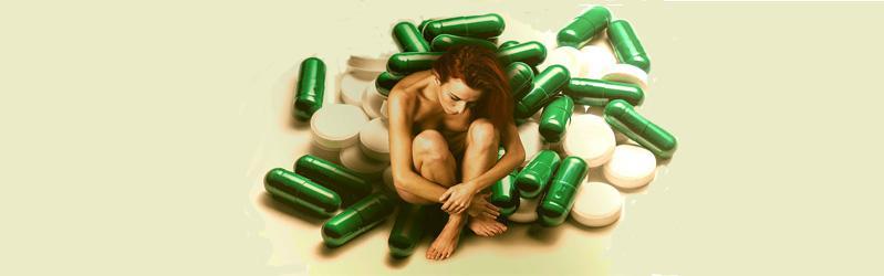 mujer pastillas
