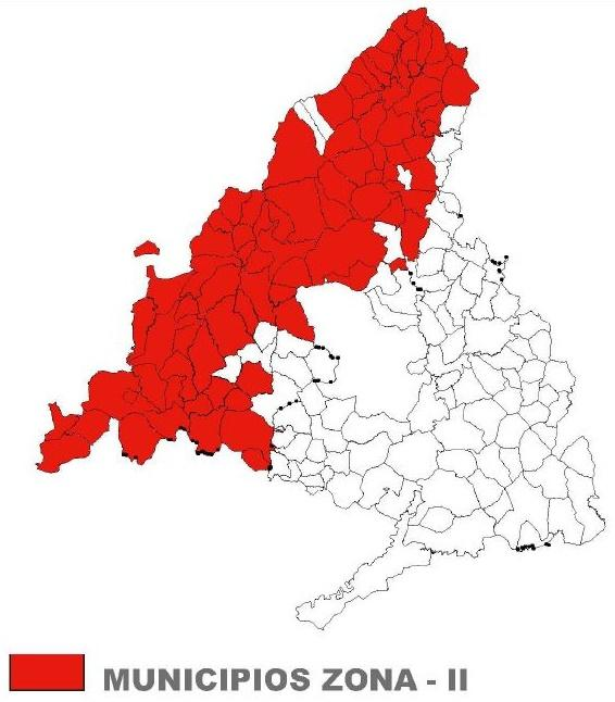 Imagen del mapa de la Comunidad de Madrid