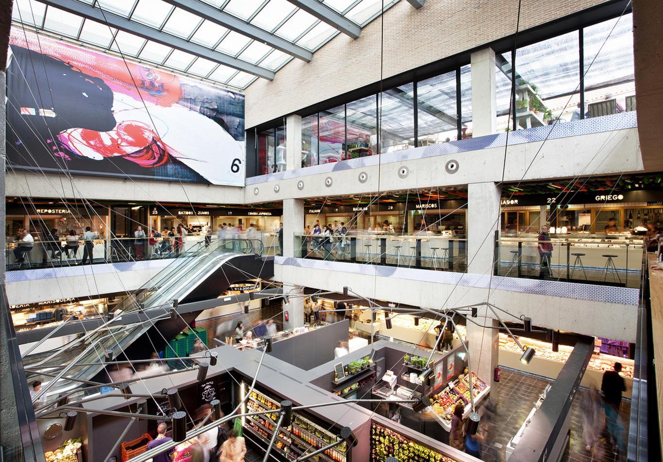 Imagen del interior de un mercado