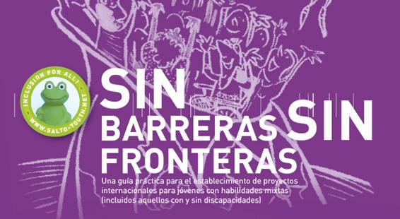 Portada de la guía con el titulo Sin Barreras Sin Fronteras