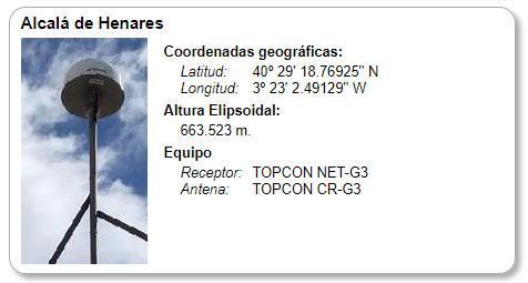 Estación Base GPS Alcalá de Henares