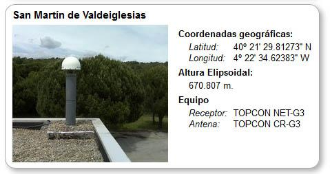 Estaciones Base GPS San Martín de Valdeiglesias