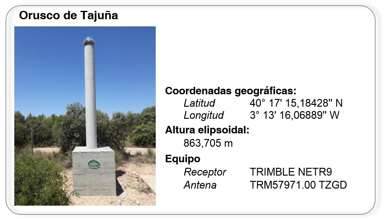 Estación GPS Orusco de Tajuña