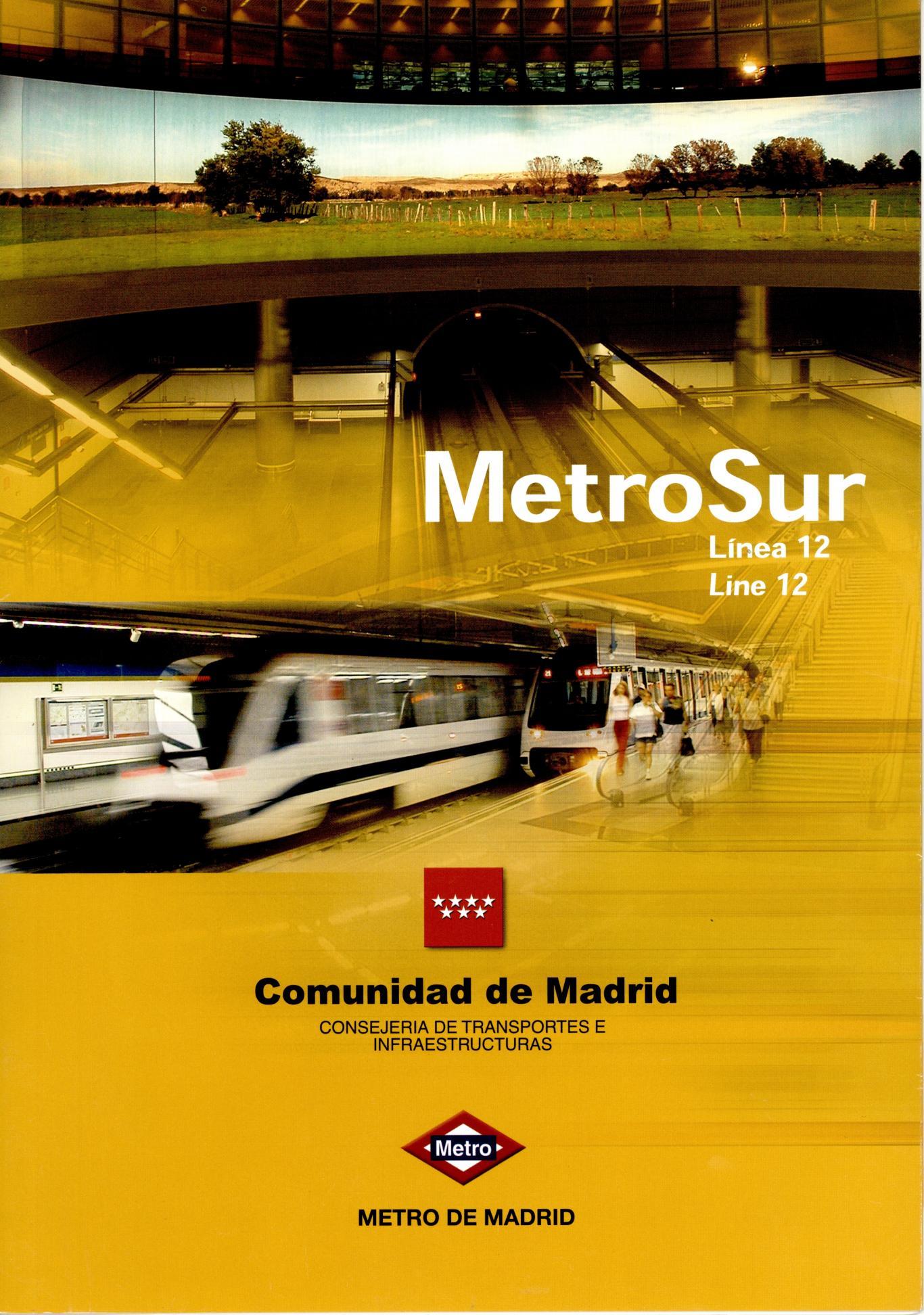 Carátula folleto Metrosur Línea 12