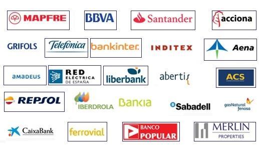 Logos de las principales empresas multinacionales españolas