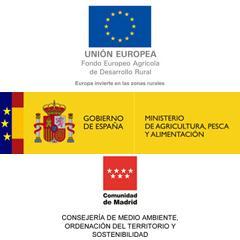 Logos del FEADER, Ministerio y Comunidad de Madrid