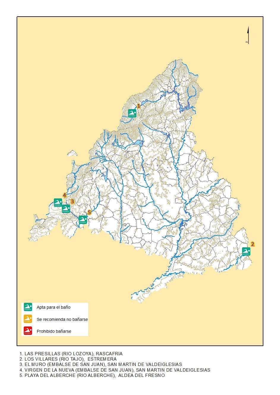 Imagen de la calidad del agua de las zonas de baño 2018
