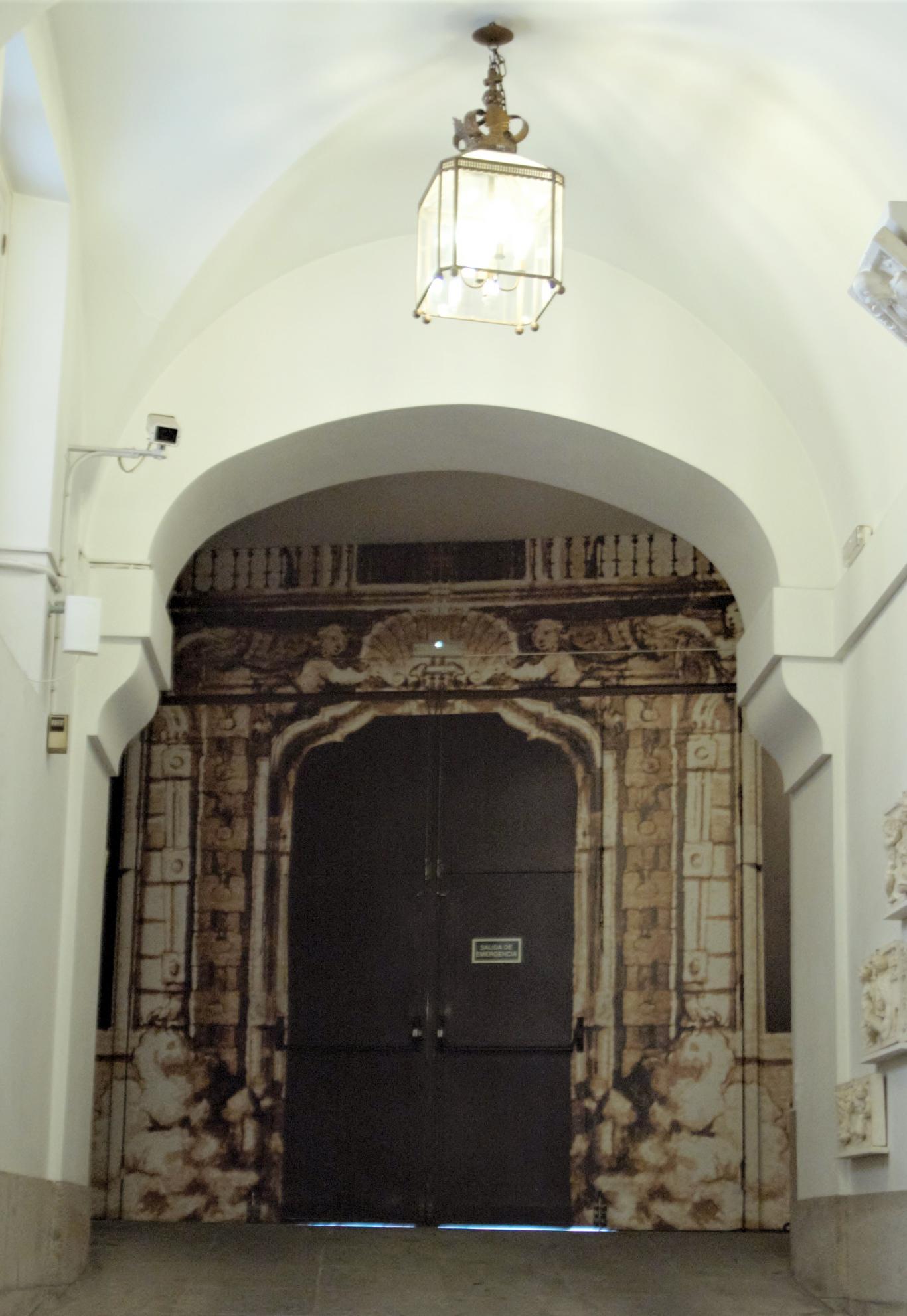 Trampantojo en la Real Academia de Bellas Artes de San Fernando. Madrid.