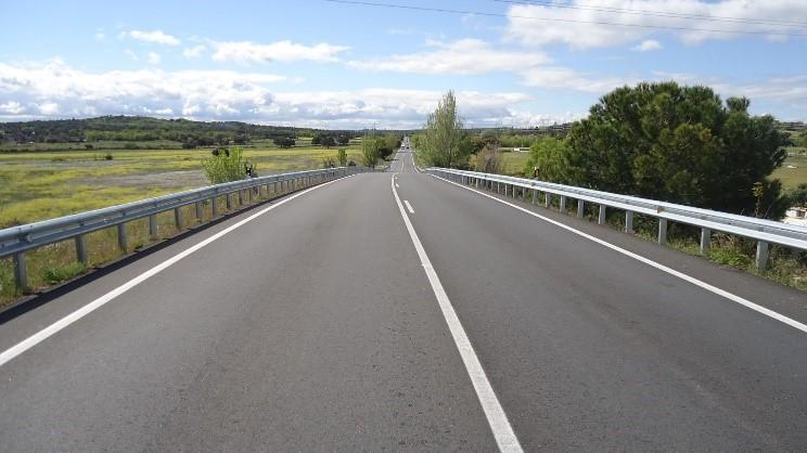 Obra terminada en la carretera M-510
