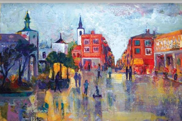 Imagen de un cuadro de la plaza de Pozuelo de Alarcón