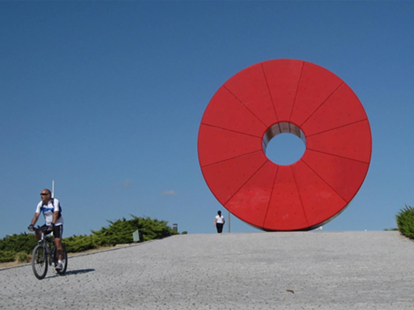 Ciclista en el Parque Juan Carlos I