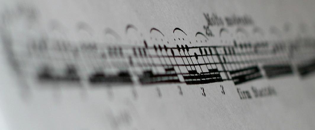 Partitura de notas en pentagrama