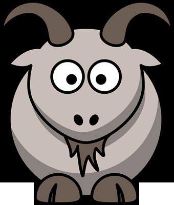 Viñeta de una cabra