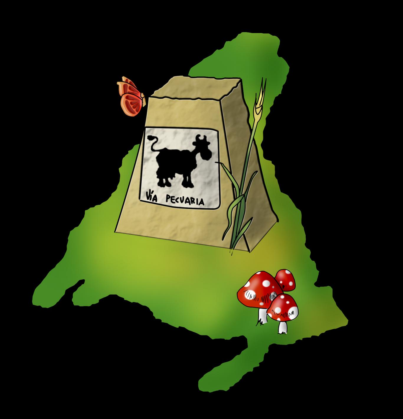 mojón en mapa dibujado-inventario