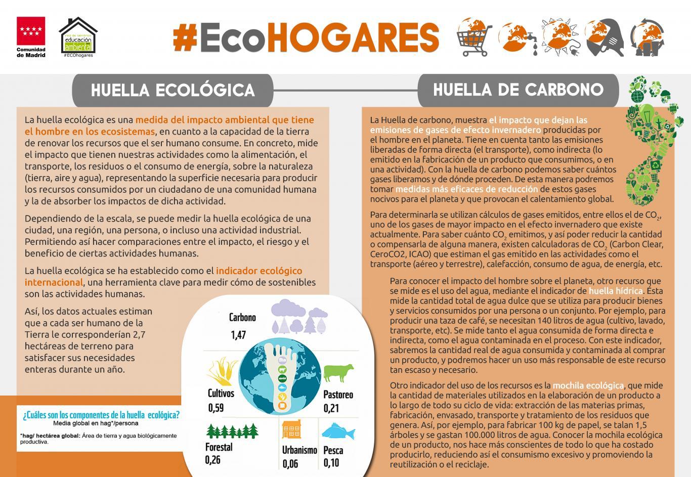 Imagen de la infografía 2: Huellas ecológica y de carbono