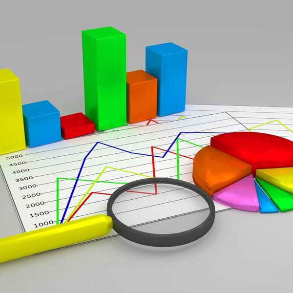 Imagen de gráficos de barras y quesitos