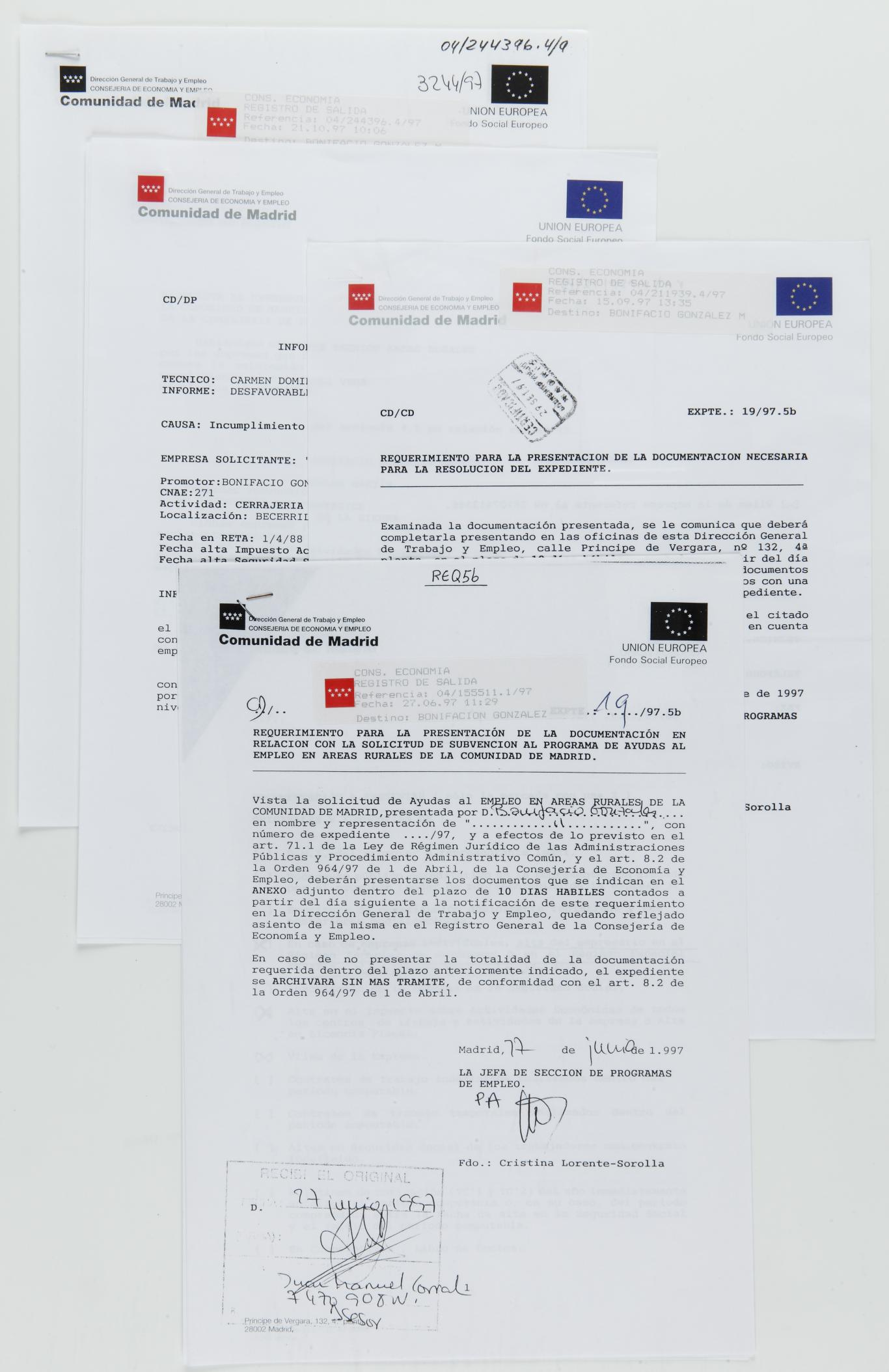 Documentos de archivo