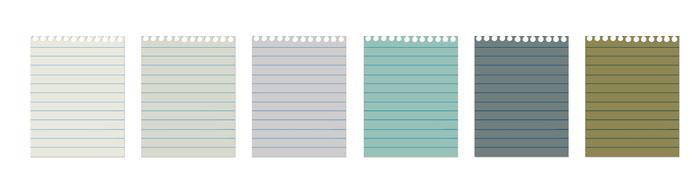 Hojas de cuaderno