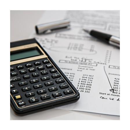 Calculadora y papeles